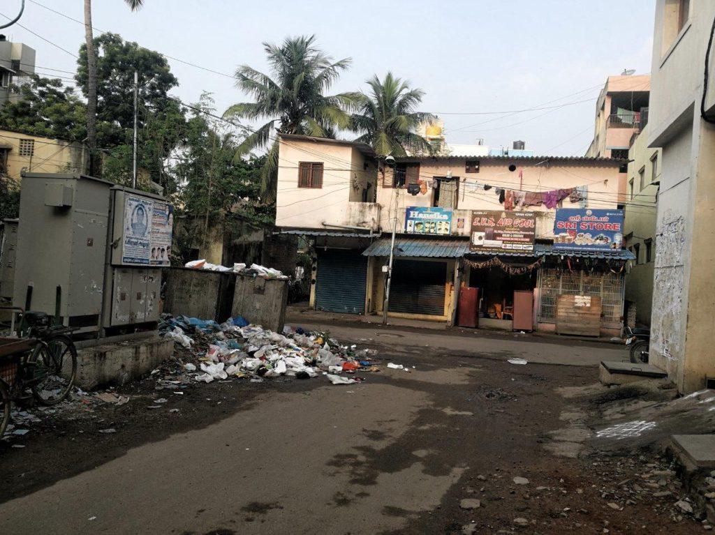 Müll Chennai Indien