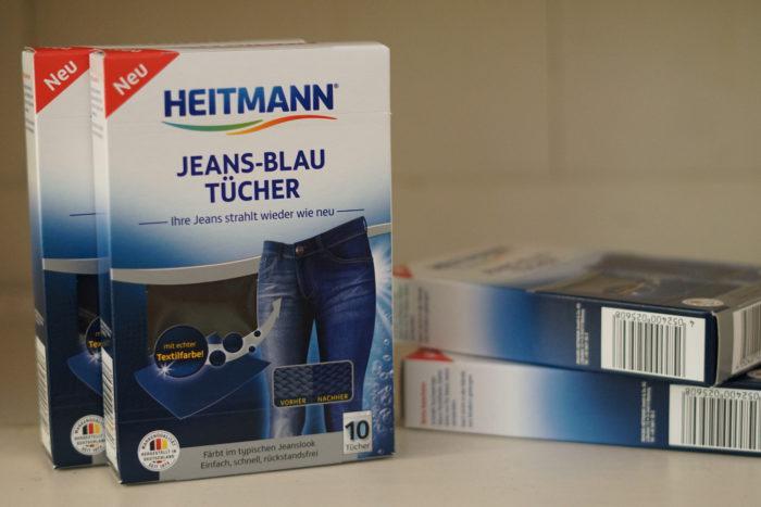 Farbe auffrischen mit Heitmann Jeans-Blau Tüchern