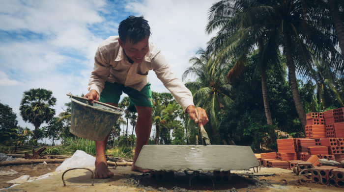 Bau einer Biogasanlage in Kambodscha