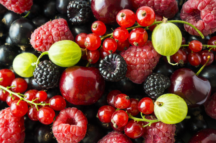 Beeren, Saisonfrüchte im Juli